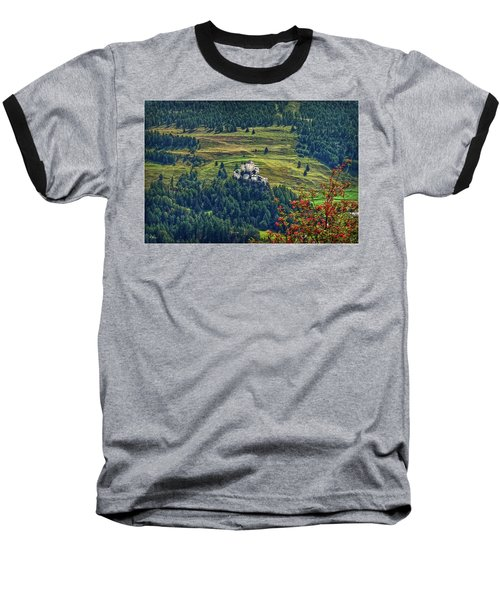 Baseball T-Shirt featuring the photograph Landscape With Castle by Hanny Heim