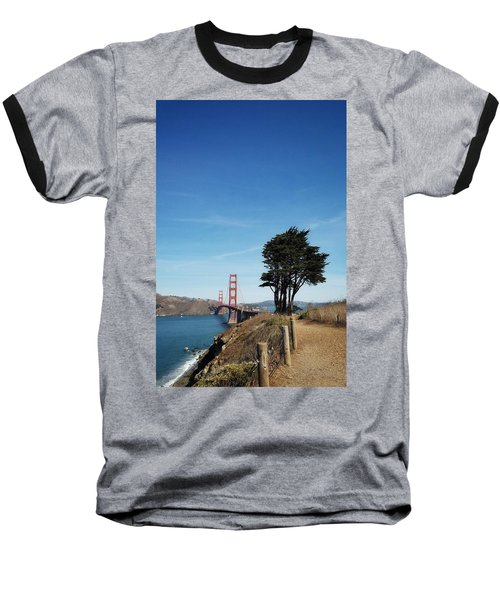 Landscape With Golden Gate Bridge Baseball T-Shirt