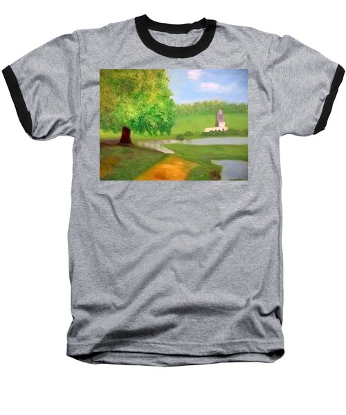 Landscape With Luxuriant Tree And Folly Baseball T-Shirt