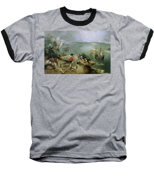 Landscape With The Fall Of Icarus Baseball T-Shirt
