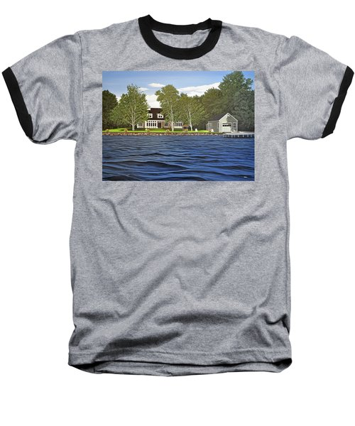 Baseball T-Shirt featuring the painting Langer Summer Home Lake Simcoe by Kenneth M Kirsch