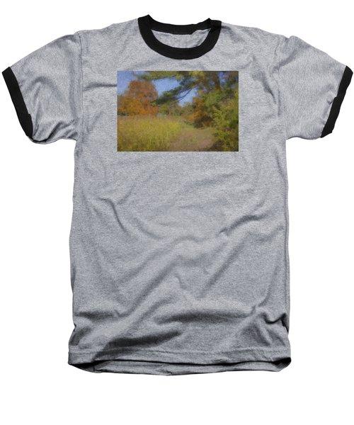 Langwater Farm Tractor Path Baseball T-Shirt