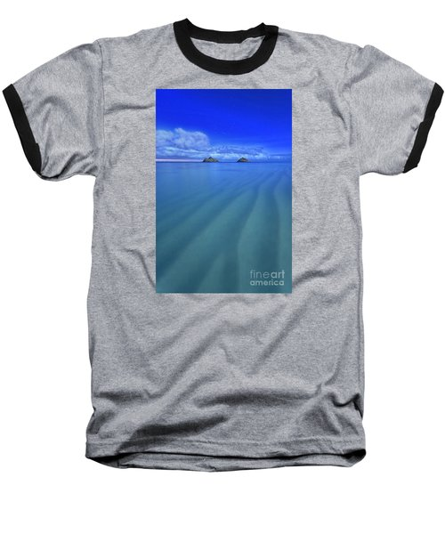 Lanikai Beach Ripples In The Sand Baseball T-Shirt by Aloha Art