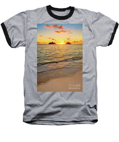 Lanikai Sunrise Between The Mokes Baseball T-Shirt