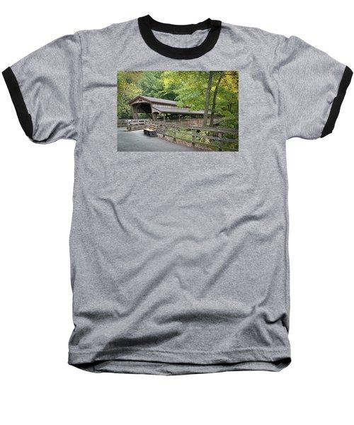 Lanterman's Mill Covered Bridge Baseball T-Shirt