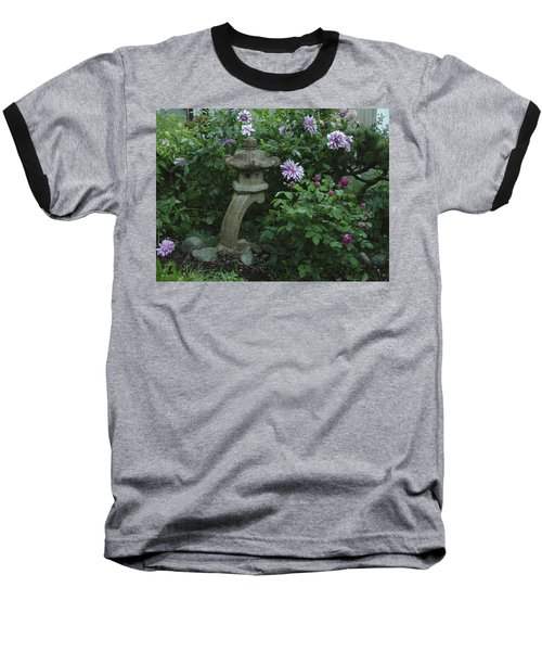 Lantern With Dahlia Baseball T-Shirt