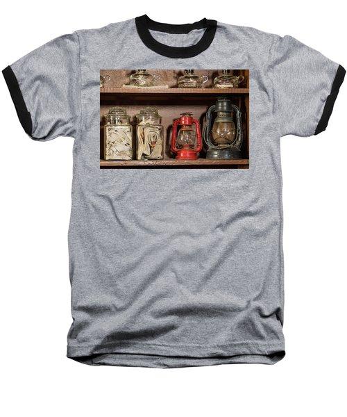 Lanterns And Wicks Baseball T-Shirt by Jay Stockhaus