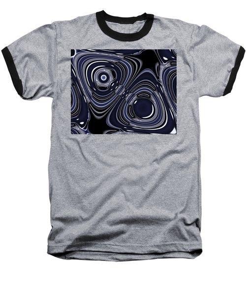 Lapis And Chrome Abstract Baseball T-Shirt