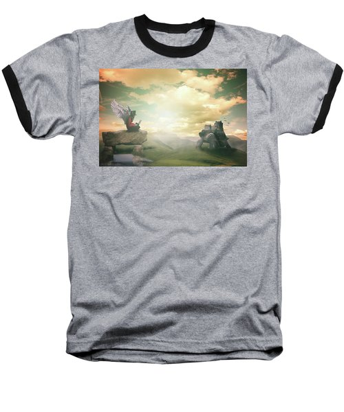 Baseball T-Shirt featuring the digital art Laptop Dreams by Nathan Wright