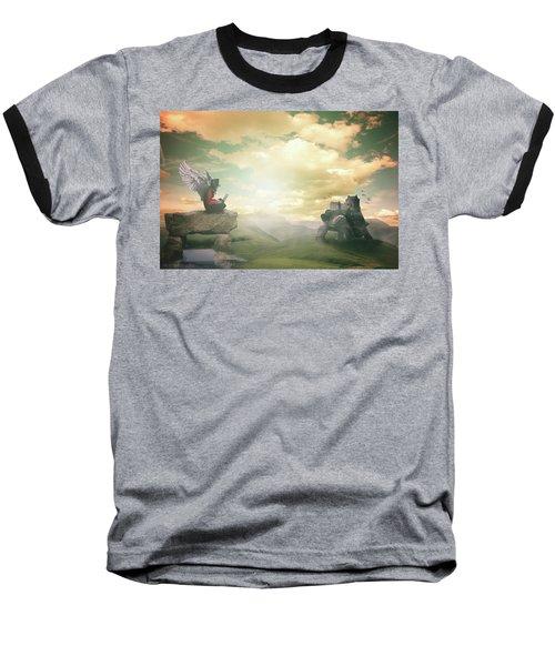 Laptop Dreams Baseball T-Shirt by Nathan Wright