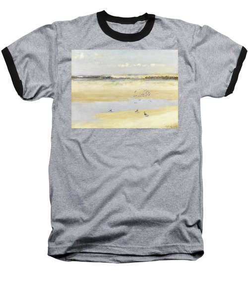 Lapwings By The Sea Baseball T-Shirt by William James Laidlay