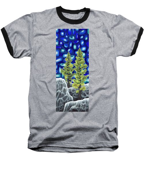 Larch Dreams 1 Baseball T-Shirt by Rebecca Parker