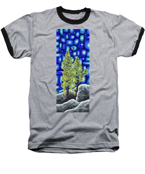 Larch Dreams 3 Baseball T-Shirt by Rebecca Parker