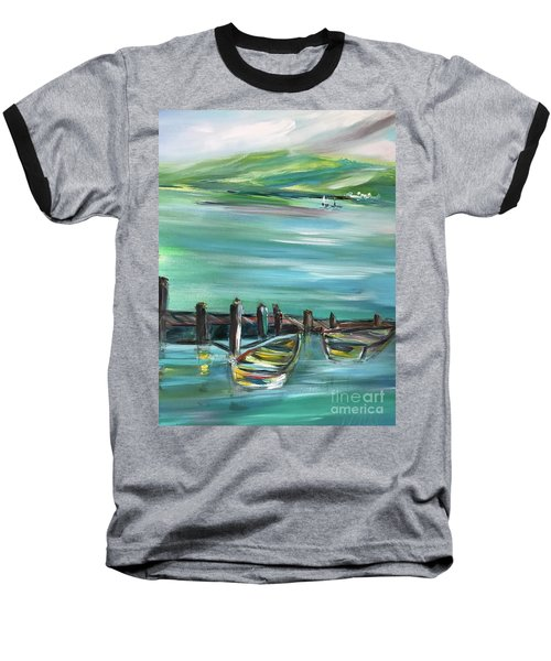 Large Acrylic Painting Baseball T-Shirt