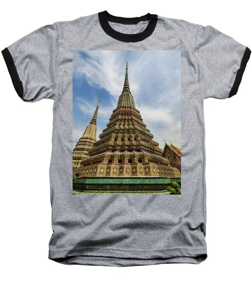 Large Colorful Stupa At Wat Pho Baseball T-Shirt