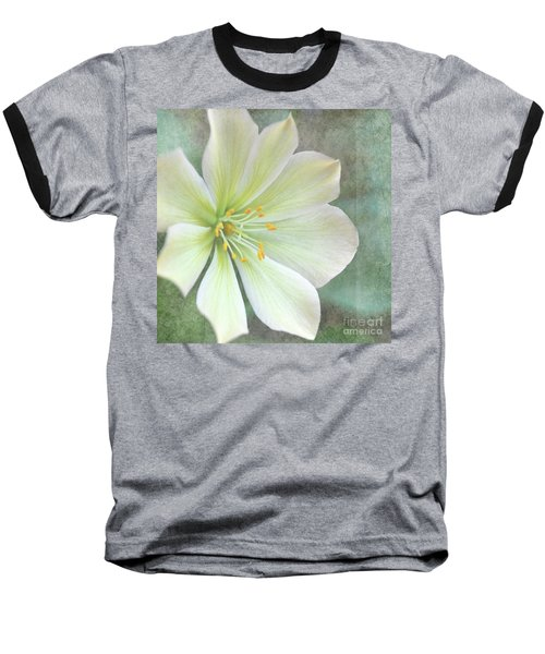 Baseball T-Shirt featuring the pyrography Large Flower by Lyn Randle