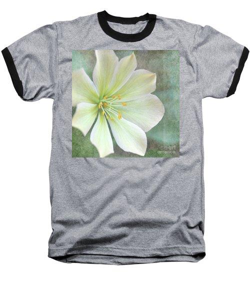 Large Flower Baseball T-Shirt