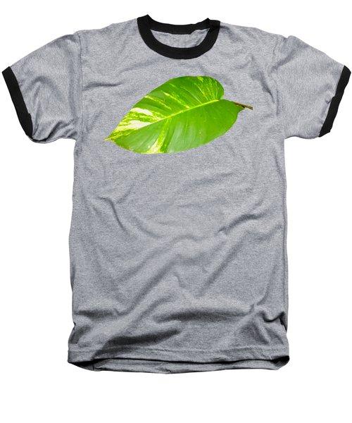 Large Leaf Art Baseball T-Shirt