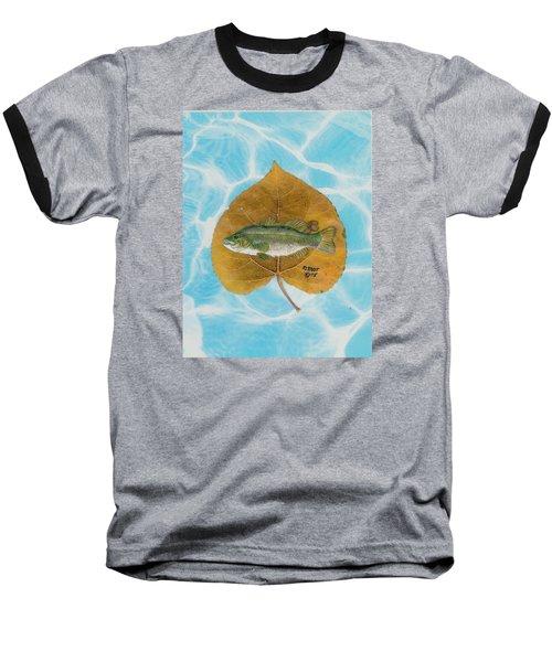Large Mouth Bass #2 Baseball T-Shirt by Ralph Root