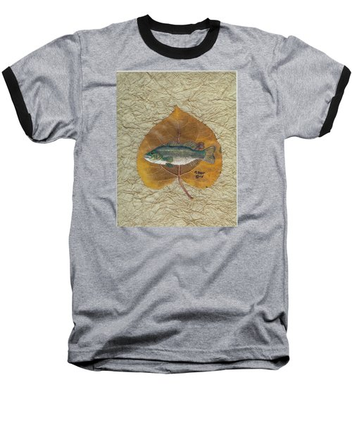 Large Mouth Bass #3 Baseball T-Shirt by Ralph Root