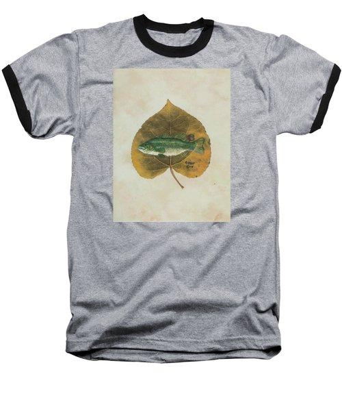 Large Mouth Bass Baseball T-Shirt by Ralph Root