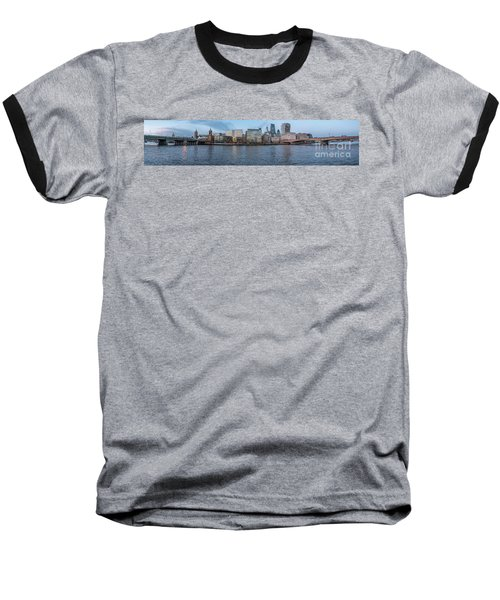 Large Panorama Of Downtown London Betwen The London Bridge And T Baseball T-Shirt