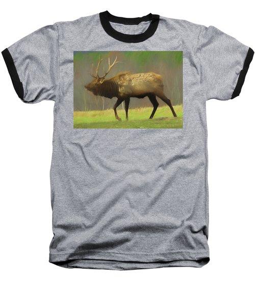 Large Pennsylvania Bull Elk. Baseball T-Shirt