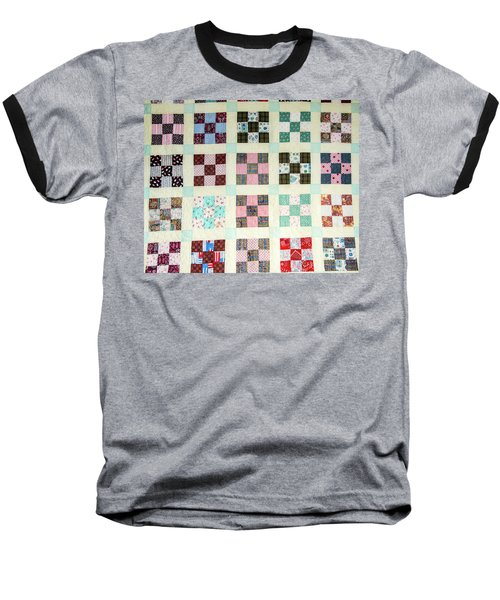 Large Quilt Baseball T-Shirt