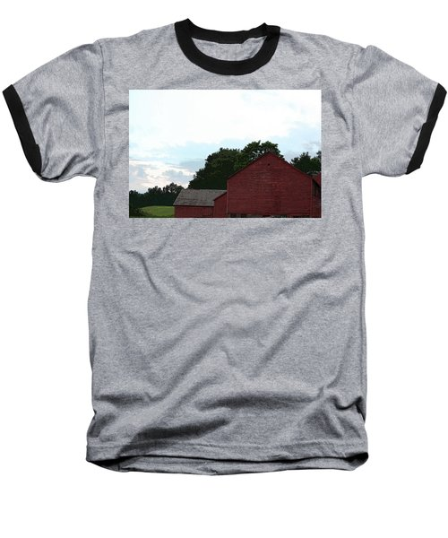 Large Red Barn Baseball T-Shirt