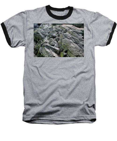 Baseball T-Shirt featuring the photograph Large Rock At Central Park by Sandy Moulder