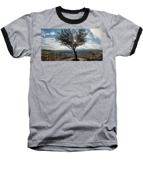Large Tree Overlooking The City Of Jerusalem Baseball T-Shirt