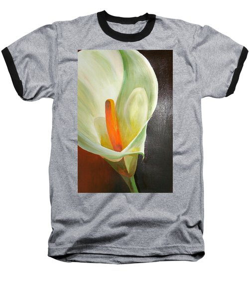 Large White Calla Baseball T-Shirt