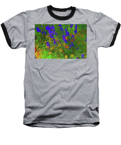 Larkspur And Primrose Garden 12018-3 Baseball T-Shirt