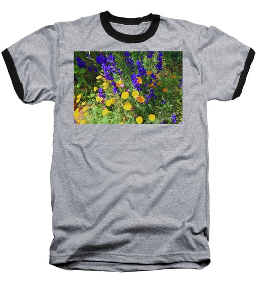 Larkspur And Primrose Garden Baseball T-Shirt