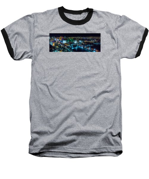 Las Vegas Looking North Baseball T-Shirt by Michael Rogers