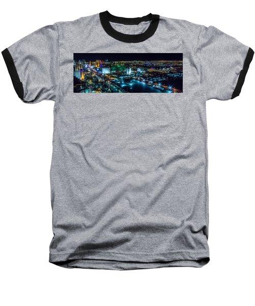 Las Vegas Looking North Baseball T-Shirt