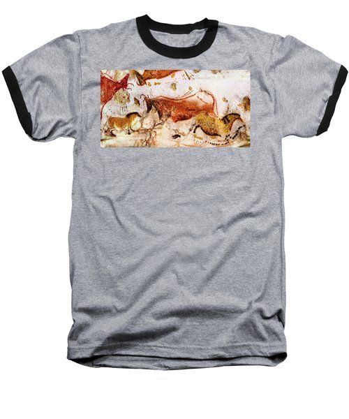 Lascaux Cow And Horses Baseball T-Shirt