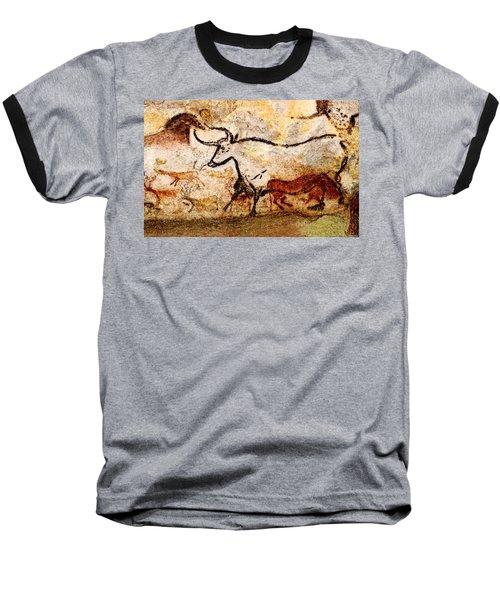 Lascaux Hall Of The Bulls - Aurochs Baseball T-Shirt