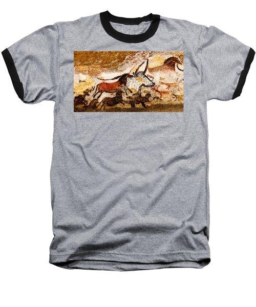 Lascaux Hall Of The Bulls - Horses And Aurochs Baseball T-Shirt