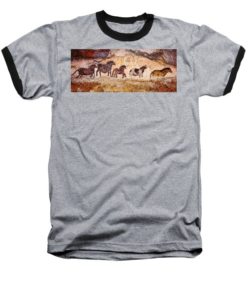 Lascaux Horses Baseball T-Shirt
