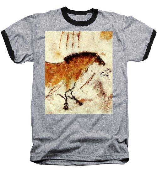 Lascaux Prehistoric Horse Detail Baseball T-Shirt