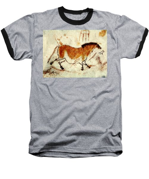 Lascaux Prehistoric Horse Baseball T-Shirt