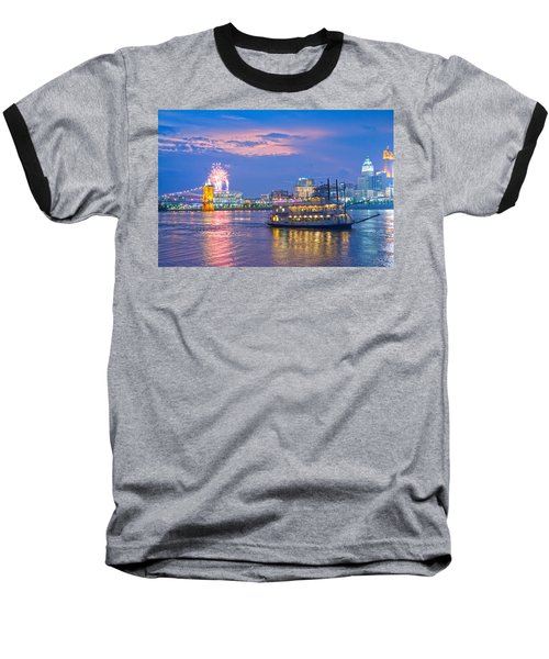 Laser Show Over Paul Brown Stadium  Baseball T-Shirt
