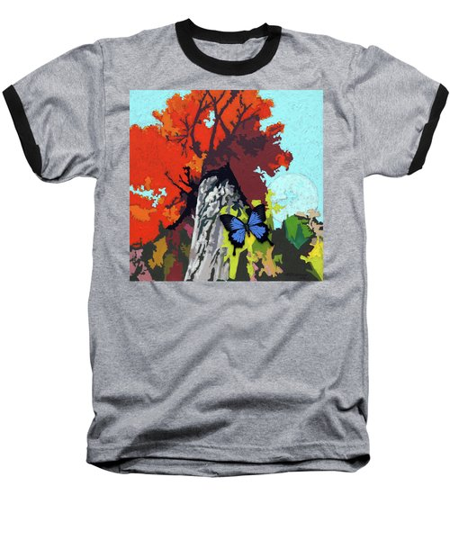 Last Butterfly Before Winter Baseball T-Shirt by John Lautermilch