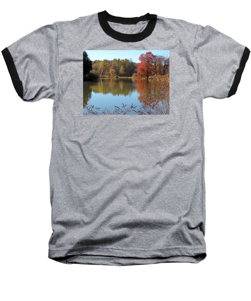 Baseball T-Shirt featuring the photograph Last Colors Of Fall by Teresa Schomig