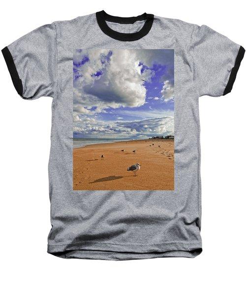 Last Day At The Beach Baseball T-Shirt by Jim Moore