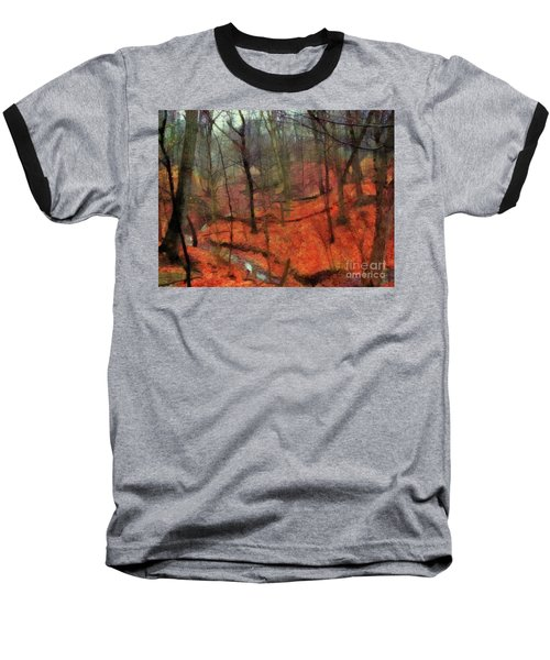 Last Days Of Autumn Baseball T-Shirt by Cedric Hampton