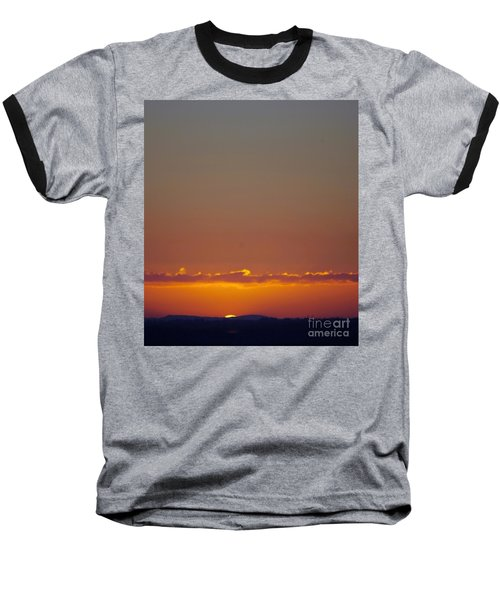 Last Glance Baseball T-Shirt by Victor K