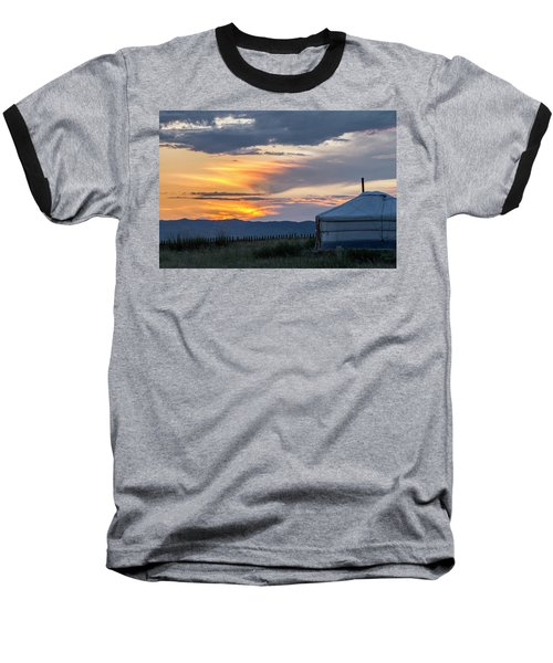 Baseball T-Shirt featuring the photograph Last Golden Light, Elsen Tasarkhai, 2016 by Hitendra SINKAR