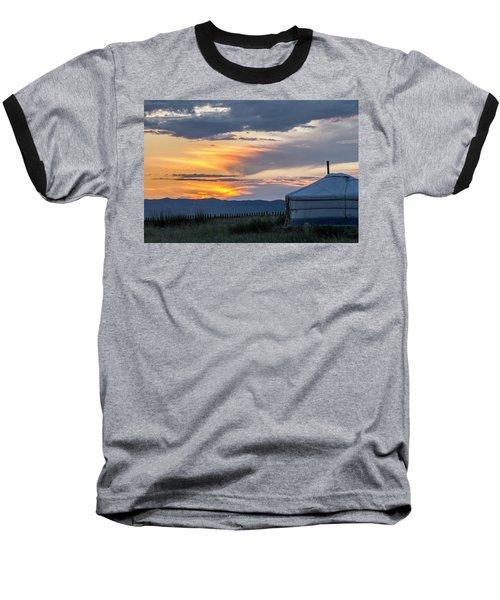 Baseball T-Shirt featuring the photograph Last Golden Light, Elsen Tasarkhai, 2016 by Hitendra SINKAR